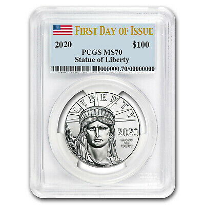 2020 1 oz Platinum American Eagle MS-70 PCGS (First Day of Issue) - SKU#199406