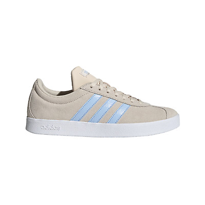 Adidas W Vl Court 2.0 Linen/Glowblue/White Court Shoes ( EE6787 )