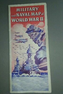 Vintage Military & Naval map of WWII. Lumberman's  Insurance Co. Mansfield, Ohio