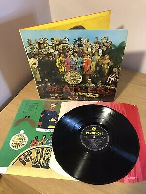 BEATLES-SGT PEPPER..COMPLETE With Insert 1ST UK MONO PRESS PMC 7027 LP 1967
