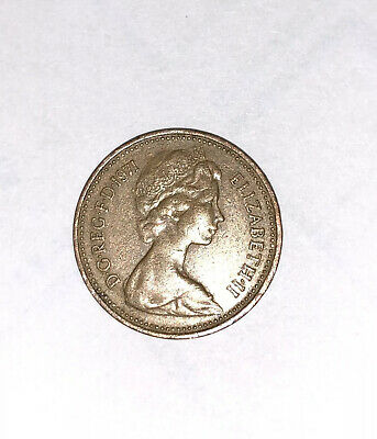Old Coin Expensive 1971 1p New Penny Circulated Demical Currency Elizabeth II