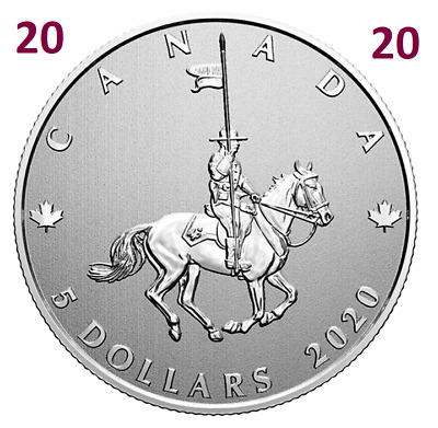 2020 🍁 Canada's National Police Force 🍁 Pure Silver 5 Dollars Coin $5 UNC 2020
