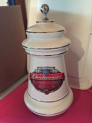 Anheuser Busch Budweiser Draft Beer Tap Ceramic 16.5 inch Tower Cover