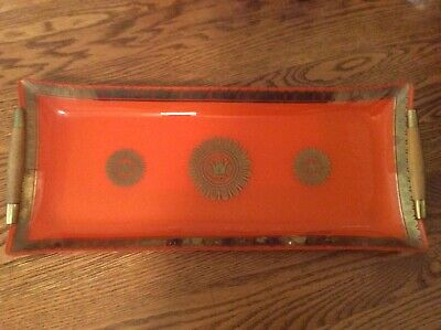 Mcm Georges Briard Glass Hostess Tray