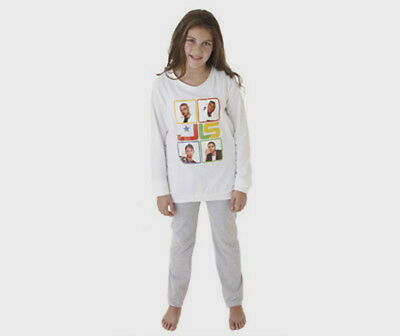 BNWT PJ GIRLS COTTON JLS PYJAMAS AGE 7/8 LONG BOTTOMS + LONG SLEEVE PJ's TOP
