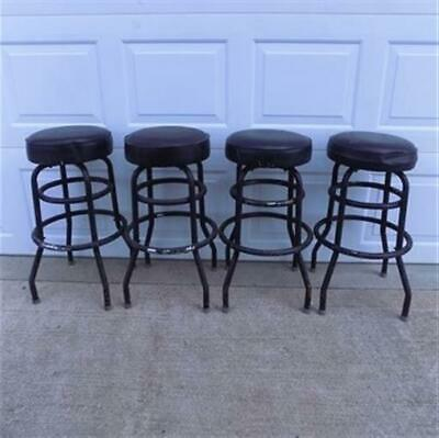4 Retro Bar Diner Stools, Chrome Soda Fountain Store Mid Century 50s 60s 70s L