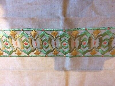 antique embroidery sample piece 1920's Glasgow School of Art. Crafts.