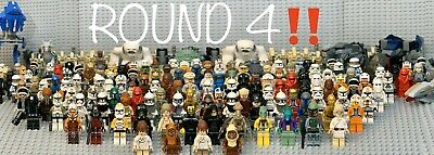 🚨 LEGO Star Wars 38 RANDOM Lots of 4: Minifigures Droids + Weapons 🆕&usedMix🚨