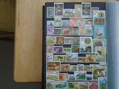 Animals. Worldwide Private collection. 54 different stamps. Some high Values.