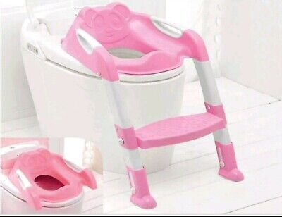 Kids Toilet Potty Pee Training Seat Baby Toddler Trainer Urinal Step Ladder pink