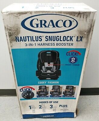 Graco Nautilus Snuglock LX 3-In-1 Harness Booster Car Seat Codey Fashion New