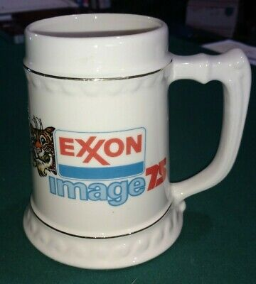 Vintage EXXON IMAGE 75 TONY THE TIGER Coffee Cup Mug * ONE OWNER FOR 45 YEARS,ME