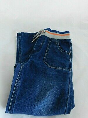 New Boys Denim Jeans Blue Pull On Age 5-6 Years Free P&P