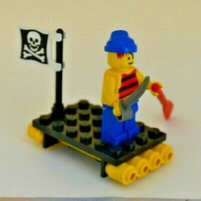 - Hard to Find! #6296 LEGO PIRATE Minifig w// Raft