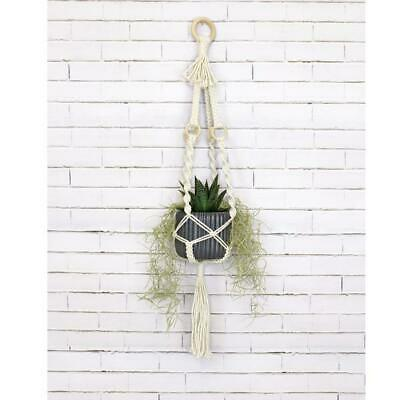 Birch Macrame Plant Pot Hanging Kit - 4 Rings -  Diy Decorative Knotting Kit