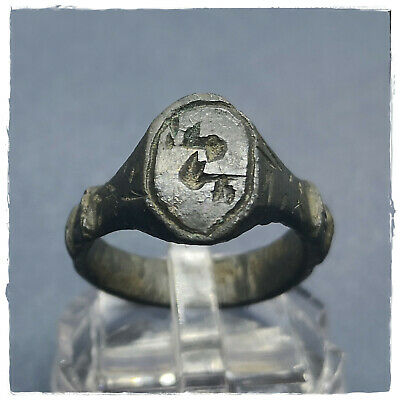 ** EAGLE WINGS ** ancient LEGIONARY-MILITARY BRONZE ROMAN RING !!! 4,99g