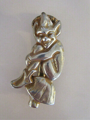 Antique/Vintage Cornish Pixie/Imp Silver Metal Door Knocker