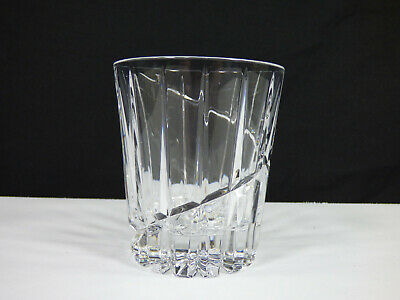 """Set Of 4 - Mikasa Crystal Uptown 4"""" Double Old Fashioned Glasses - Excellent"""