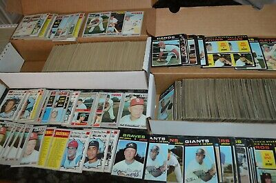 Large 1970-71 Topps Baseball Card Collection!!! Overall Vg/Ex Condition!!!
