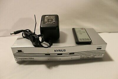 NYRIUS Component Video 3 Input HD Digital Optical Source Selector Switch