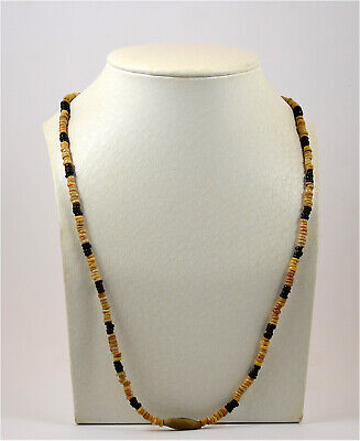 Egypt Coptic Period a fawn terracotta bead necklace