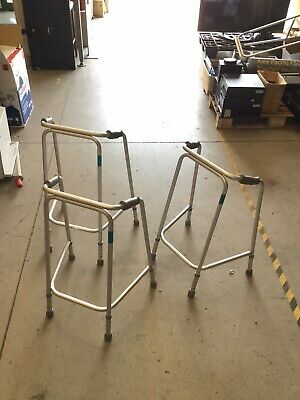 STAINLESS STEEL WALKING FRAME Adjustable Height, Lightweight