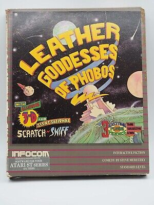 Infocom Leather Goddesses of Phobos, complete1986 Atari ST, Vintage Big Box, CIB