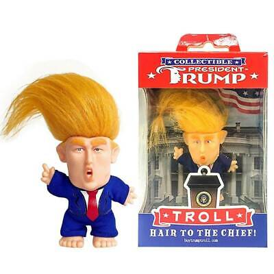 President Donald Trump Collectible Troll Doll Make America Great Again Figure ~