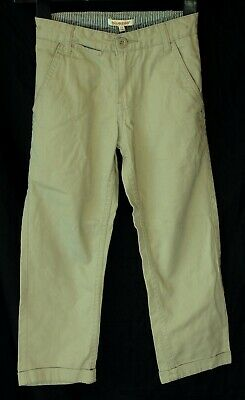 Boys Debenhams Stone Beige Denim Adjustable Waist Relaxed Jeans Age 5-6 Years