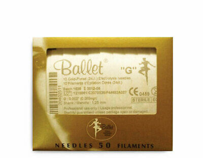 Ballet Needles Gold Plated F2G Pack x 50