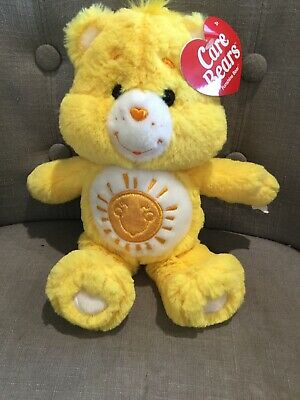"Care Bears 12"" Yellow Plush Funshine Bear Bnwt"