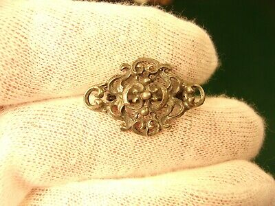 """Very Pretty Little Old Vtg Antique 800 """"Sterling"""" Silver Art Nouveau Brooch Pin"""