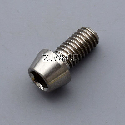 M6X10mm M6x16 M6X18 M6x20 M6X25mm Titanium Ti Bolts Allen Hex Tapered Head Screw