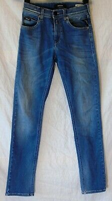 Boys Blue Replay Blue Whiskered Denim Super Slim Jeans Age 10 Years Height 142cm