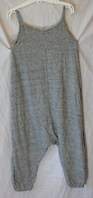 Girls Next Mid Grey Marl All in One Strappy Comfy Cuffed Jumpsuit Age 5 Years