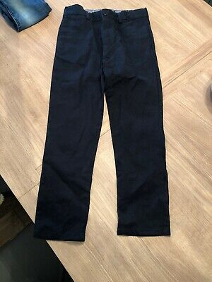 Boys River Island Skinny Navy Chino Trousers Age 8