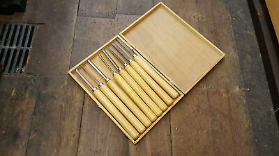 Set of 8 Woodturning Tools in Box 25764