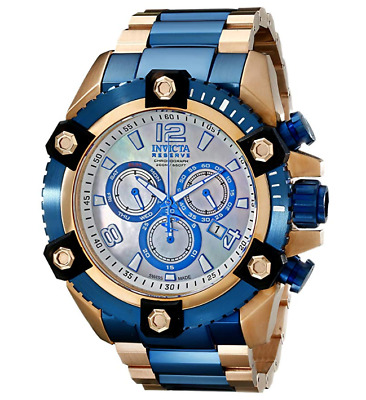 Invicta Reserve Grand Octane Rose Gold 63mm Swiss Chronograph Watch RARE 15839