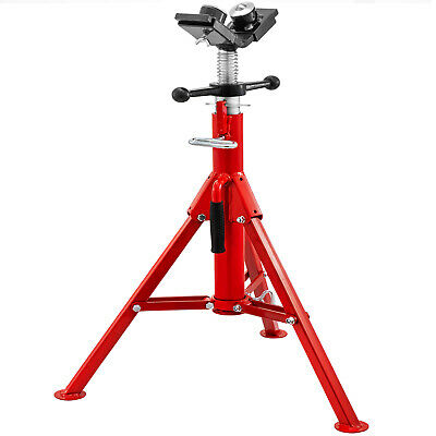 """Pipe Stand Fold-a-Jack 2-Ball Transfer Head, 12"""" Pipe Capacity, 28""""-52"""" Height"""