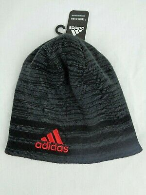 ADIDAS ClimaWarm Eclipse Reversible Rev II Youth Beanie Hat Black /& Gray NWT