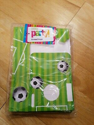 8 Football Meal Trays, New In Original Packaging