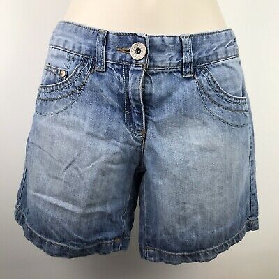 Next Girls Youth Kids Blue Jeans Denim Spring Summer Short Age 10 Years