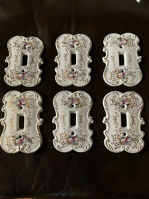 Beautiful Vintage Porcelain Original Arnart Creation Light Switch Covers 6