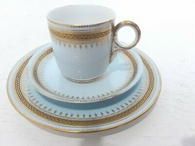 Antique Gold Sevres Porcelain Teacup Plate Dish French English Hand Painted