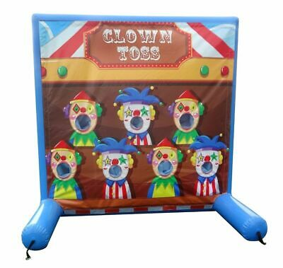 Commercial Inflatable Games - Clown Toss - Air Frame Game With Pump & Carry Bag