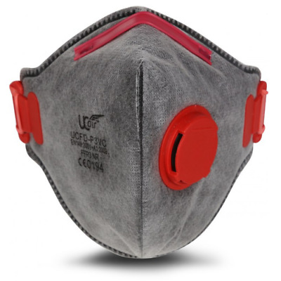 FFP3 Anti Virus / Asbestos Active Carbon Flat Valved Respirator Face mask UK STK