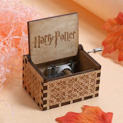 Harry Potter Music Box Engraved Wooden Music Box Interesting Toys Surprise Gift