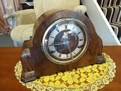 Art Deco Perivale British Made Striking Chime Mantle Clock
