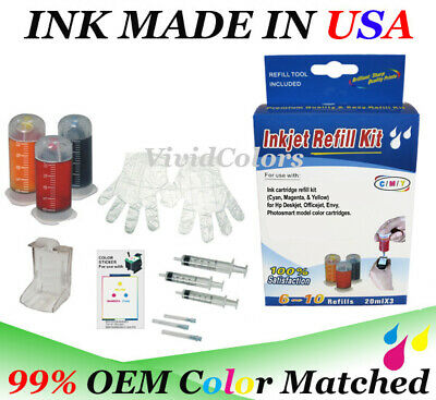 ink cartridge refill box kit for hp 63 65xl 64 65 62 63xl C M Y color cartridge