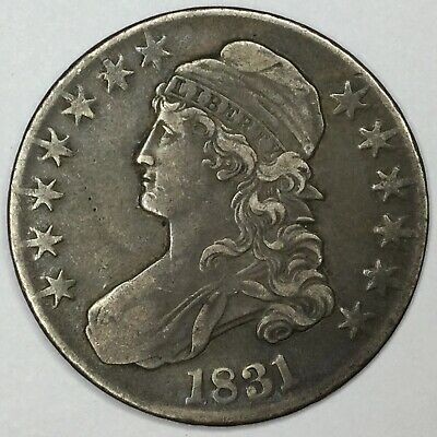 1831 50C Capped Bust Half Dollar XF Uncertified